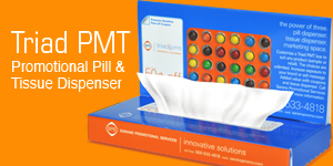 Triad PMT Promotional Pill and Tissue Dispenser