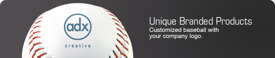 Unique Branded Products. Customized Baseball With Your Company Logo